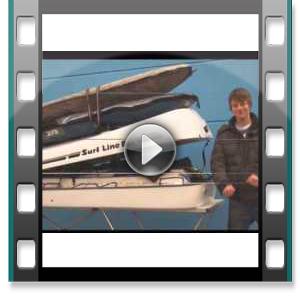 Surfbox Dachbox Big-Malibu Dachbox mit Surfhalter Fiberglas GFK, 1000 Liter, Tragkraft 130 kg - Die orginal SURF LINE BOX nur von © surfbox.de