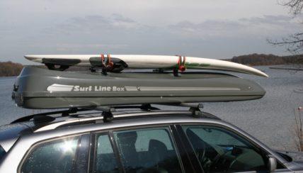 Surfbox Dachbox Malibu XL Dachbox mit Surfhalter Fiberglas GFK, 650 Liter, Tragkraft 95 kg - Die orginal SURF LINE BOX nur von © surfbox.de