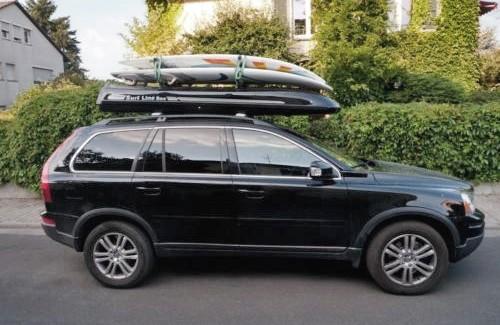 coffre de toit slb 280 avec fixation pour planche de surf coffre de toit prime en grp par mobila. Black Bedroom Furniture Sets. Home Design Ideas