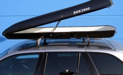 Dachbox mieten ALB 390/Shark - direkt beim Hersteller der legendären SURF LINE BOX