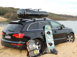 Audi Photos of ROOF BOXES Big-Malibu XL Surf roof box with surfboard rack