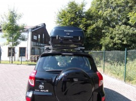 Toyota Rav Big Malibu Photos of ROOF BOXES Big-Malibu XL Surf roof box with surfboard rack