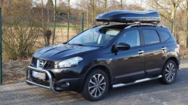 Nissan Qua Photos of ROOF BOXES Big-Malibu XL Surf roof box with surfboard rack