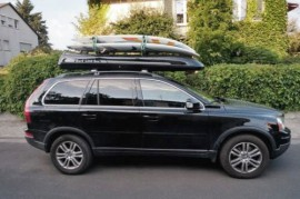 Slb Photos of ROOF BOXES Big-Malibu XL Surf roof box with surfboard rack