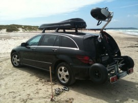 Juli  Mercedes Photos of ROOF BOXES Big-Malibu XL Surf roof box with surfboard rack