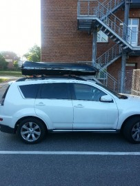 Mitsubishi  Photos of ROOF BOXES Big-Malibu XL Surf roof box with surfboard rack