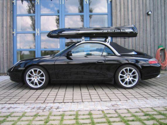 Dachbox von Mobila auf    Porsche  - © surfbox.de