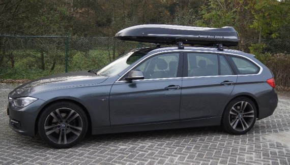 Malibu Roof Box With Surfboard Rack On The Cover Premium