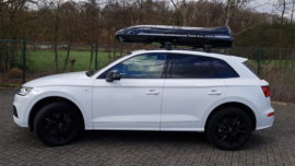 Audi Q5 Dachboxen Audi Beluga XXL Dachbox – Urlaub mit Hund