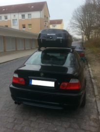 "BMW 3er Coupe Dachboxen BMW Beluga roof box ""Golf and Kite"" advantage through quality"