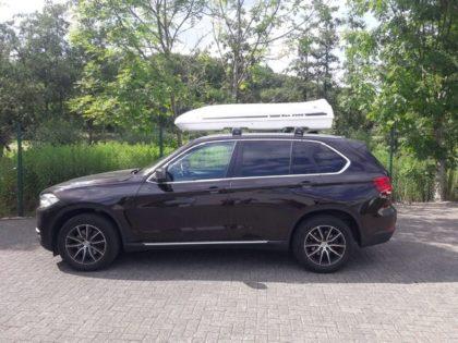 BMW X5 Kundenbilder Beluga XXL Dachbox – Urlaub mit Hund