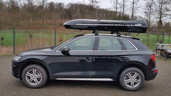 Audi Q5 Kundenbilder Jumbo – große Premium Dachbox mit 1300L Volumen